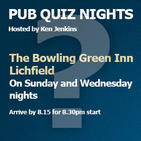 Quiz Night Dates Lichfield